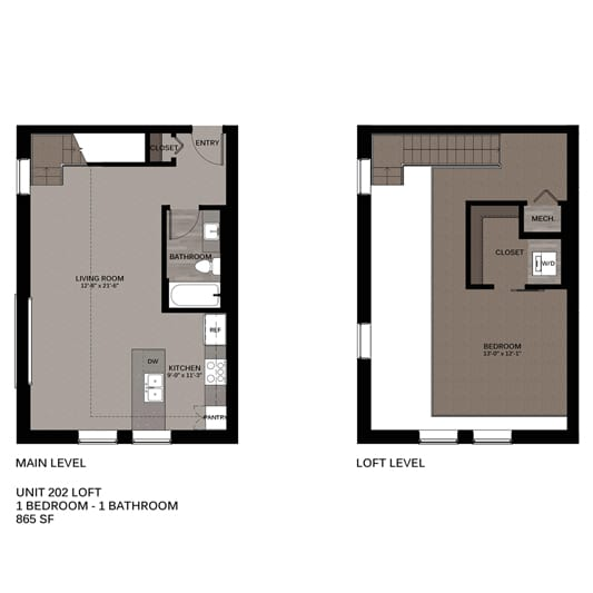 Hupmobile Floorplan Unit 202