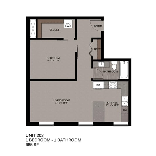 Hupmobile Floorplan Unit 203