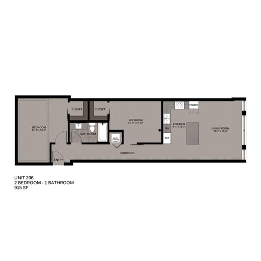 Hupmobile Floorplan Unit 206