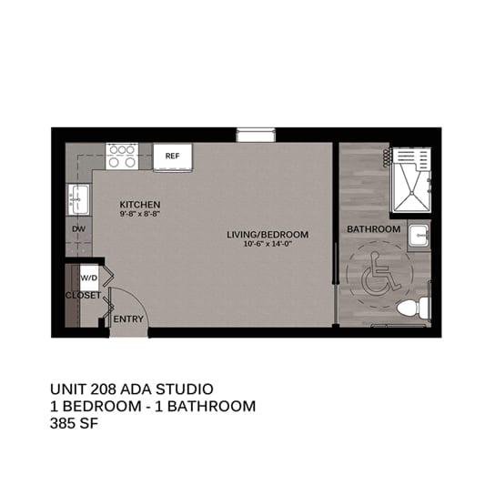 Hupmobile Floorplan Unit 208